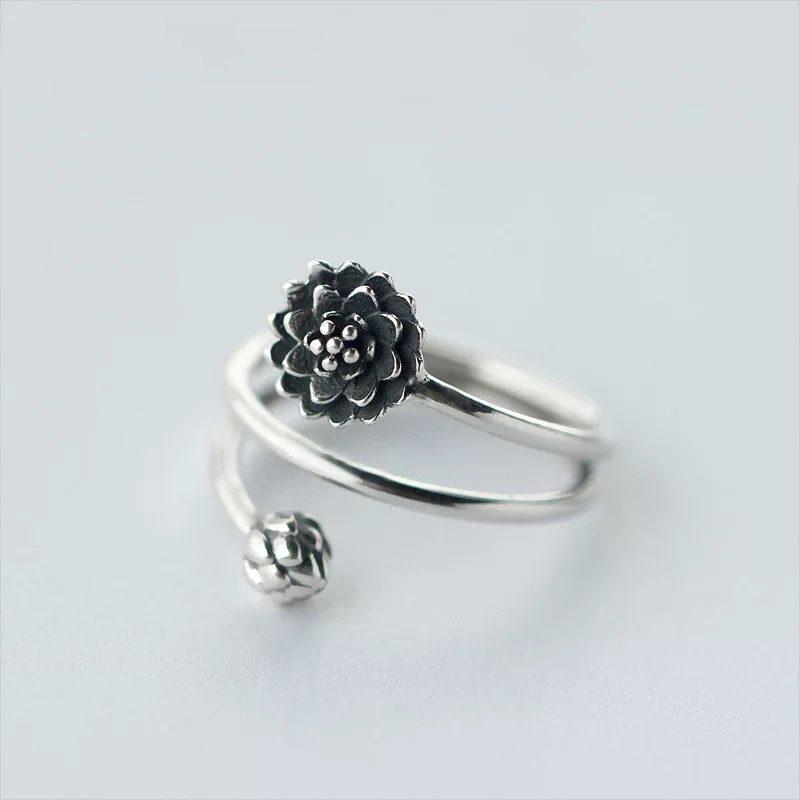 Кольцо Живописный цветок недорого