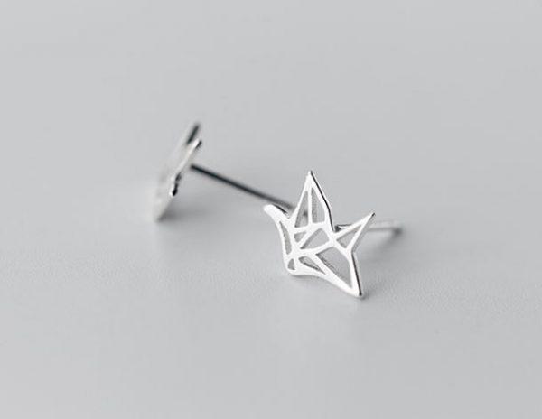 серебрянные Серьги Линейное вдохновение фото 5