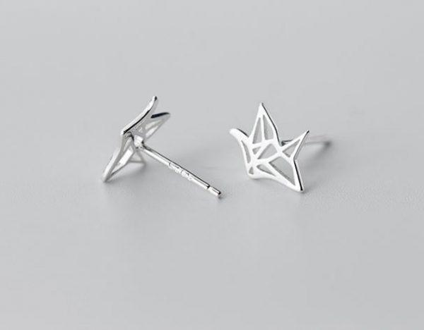 серебрянные Серьги Линейное вдохновение фото 4
