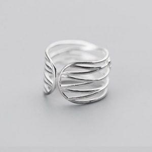 серебрянные Кольцо Нежное прикосновение фото 2