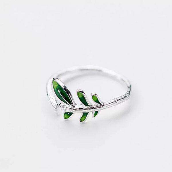 Кольцо Нежные листья купить