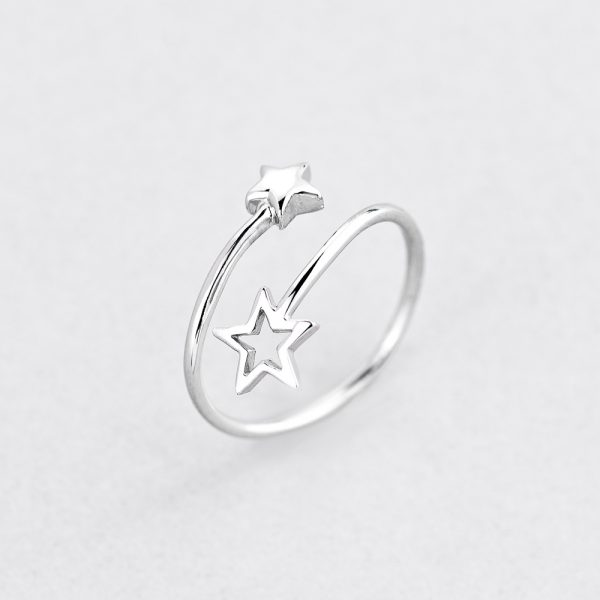 Кольцо Звездная пара недорого
