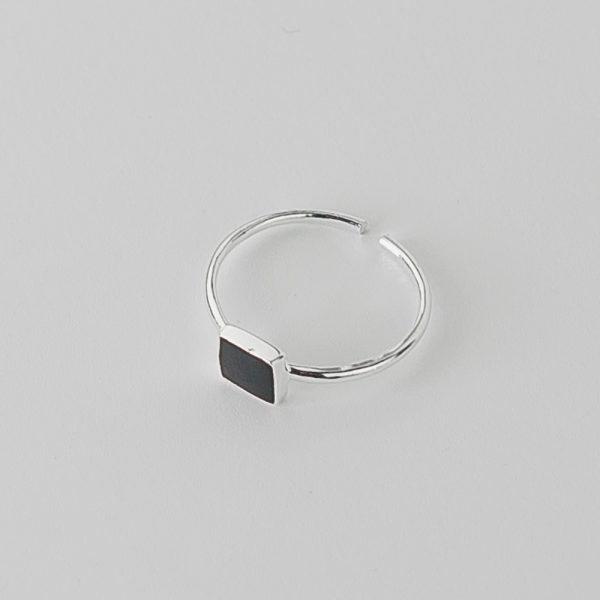 Кольцо Черный Квадрат купить