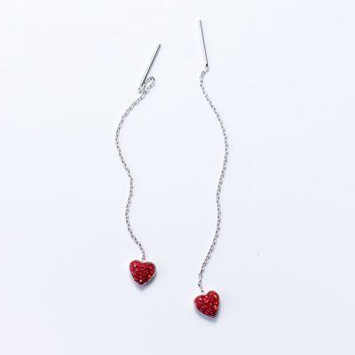 Серьги Рубиновое Сердце недорого