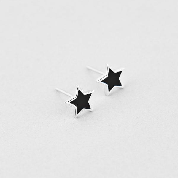 Новинки - Серьги Черная Звезда