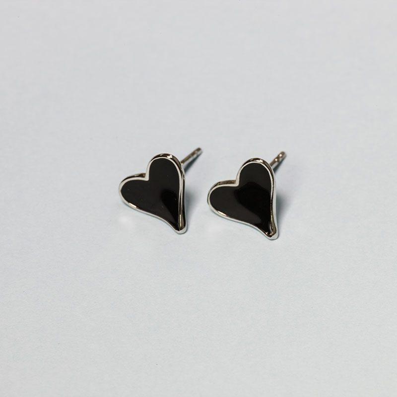 Сережки Чорне Серце купить