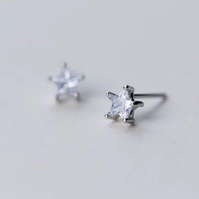 Сережки звездочки серебро