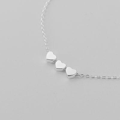 Браслеты - Браслет Серебряные Сердечки