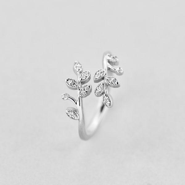 Кольца - Кольцо Серебряные Ветки
