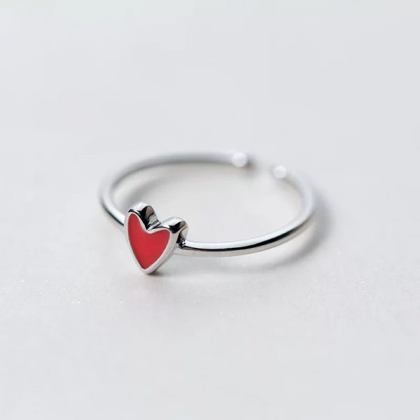 Кольцо Красное Сердечко купить