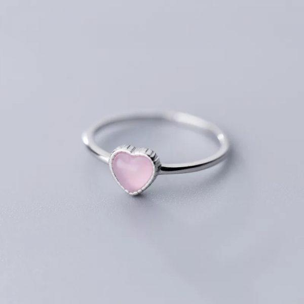 Кольцо Розовое Сердце купить