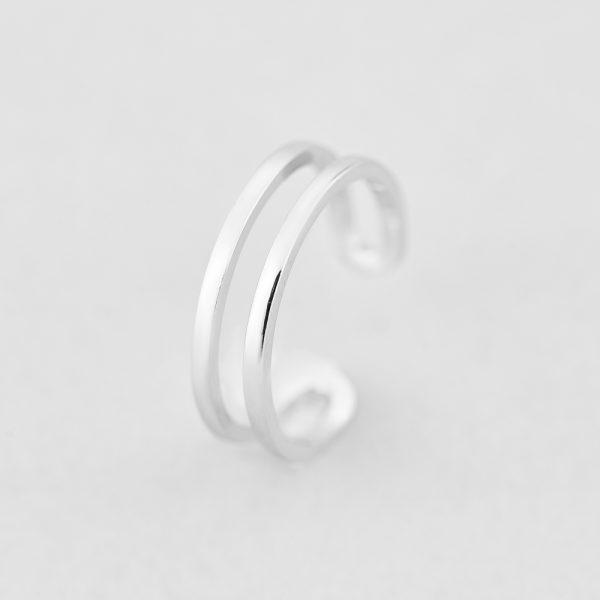 Кольца - Кольцо Серебристые Линии