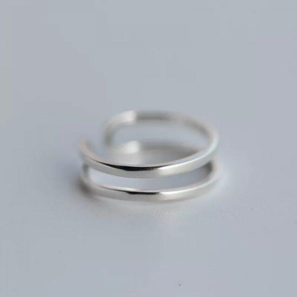Кольцо Серебристые Линии недорого
