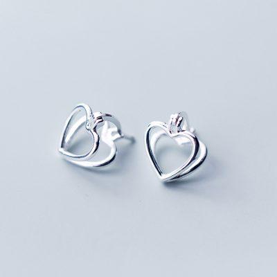 Серьги Серебряное Сердце недорого