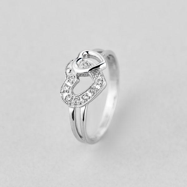 Кольцо Два сердца недорого