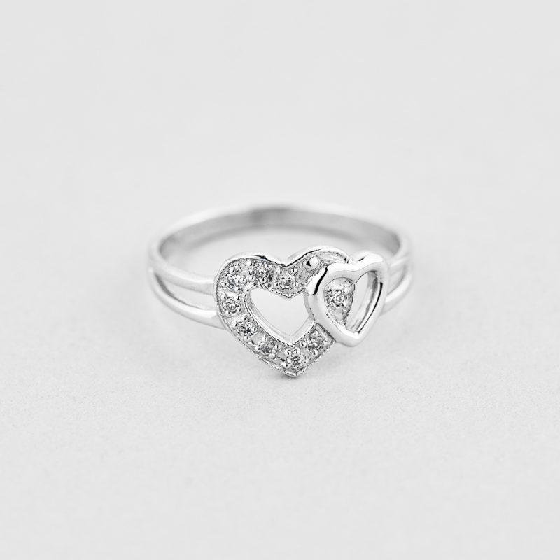 Кольцо Два сердца купить