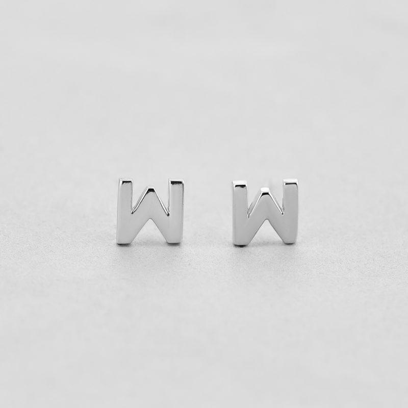 Сережки Letter W недорого