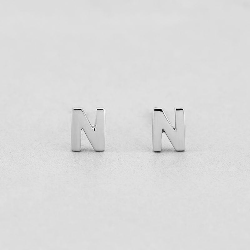 Сережки Letter N недорого