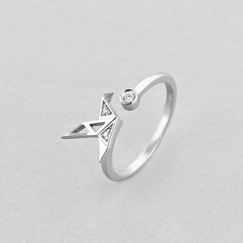 Кольцо Оригами недорого