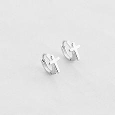 Серьги кресты серебро